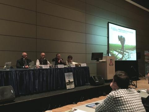 Panelists discuss the future of Arizona agriculture and water. Photo Courtesy of: Arizona Project WET