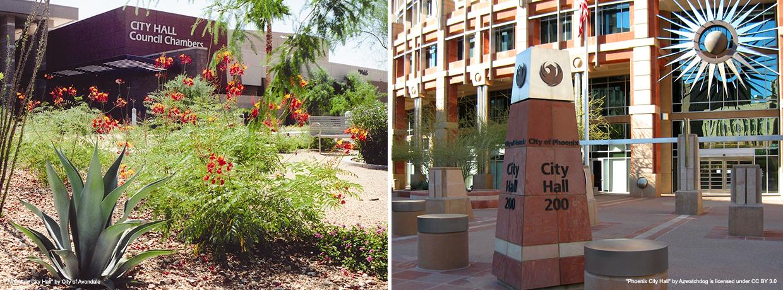 Avondale and Phoenix City Halls